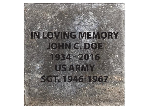 16x16 memorial paver